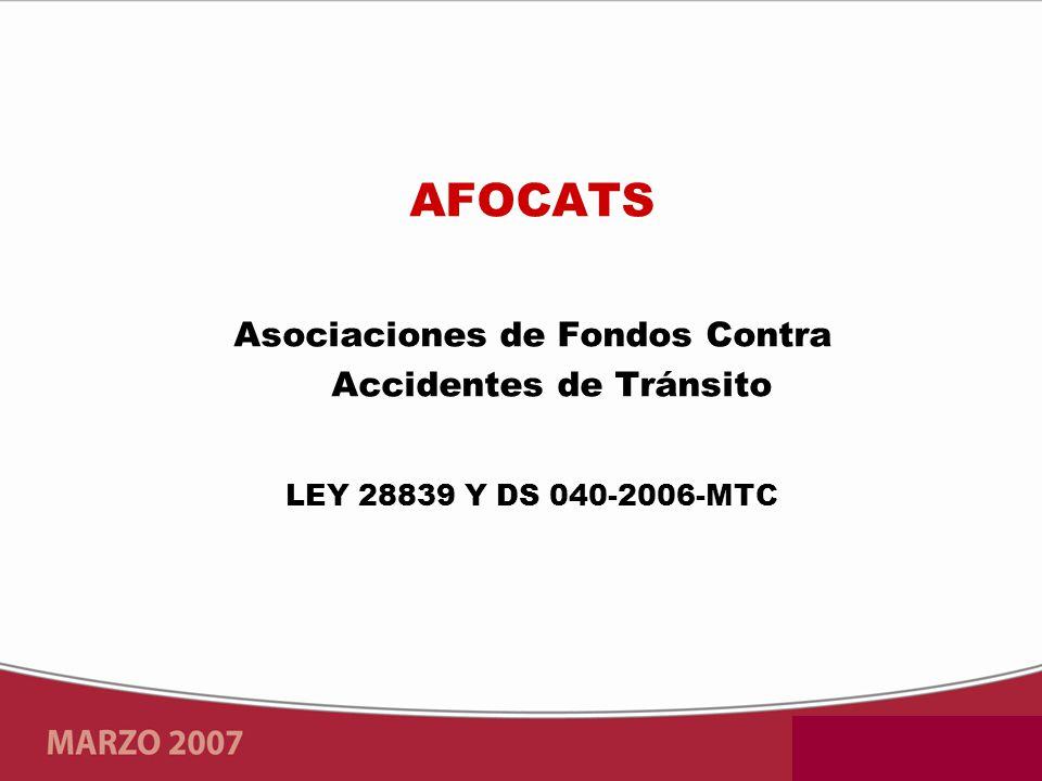Asociaciones de Fondos Contra Accidentes de Tránsito