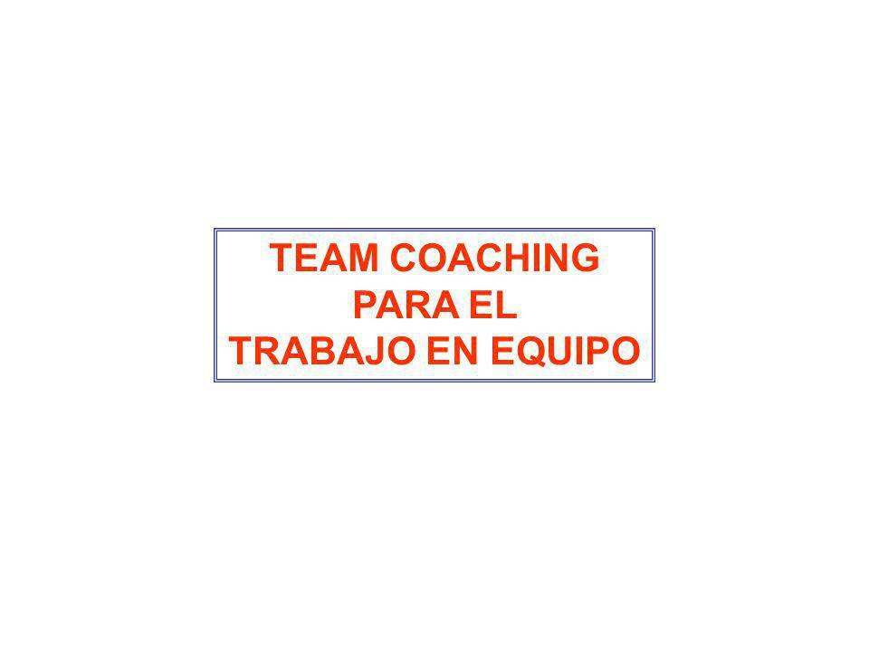 TEAM COACHING PARA EL TRABAJO EN EQUIPO