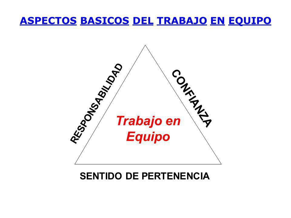 ASPECTOS BASICOS DEL TRABAJO EN EQUIPO