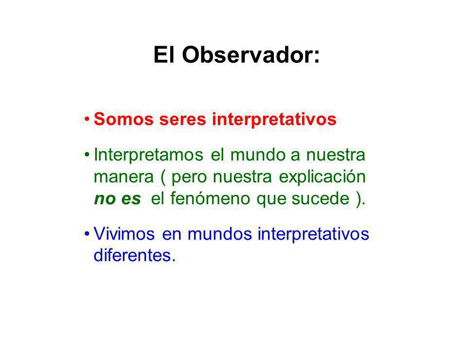El Observador: Somos seres interpretativos