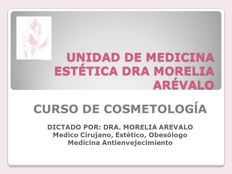 UNIDAD DE MEDICINA ESTÉTICA DRA MORELIA ARÉVALO