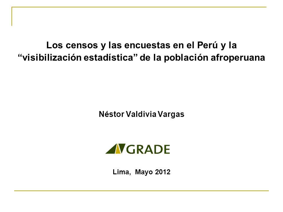 Los censos y las encuestas en el Perú y la