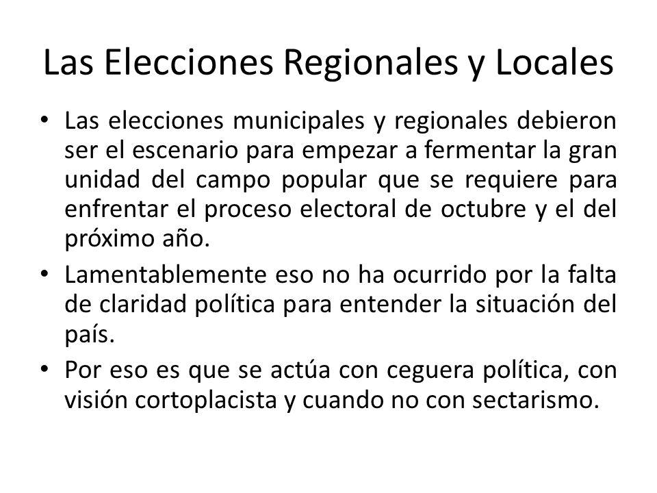 Las Elecciones Regionales y Locales