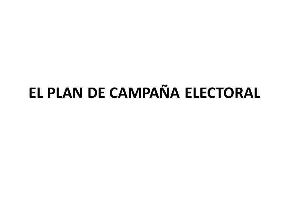 EL PLAN DE CAMPAÑA ELECTORAL