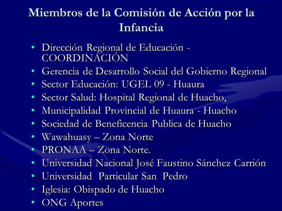 Miembros de la Comisión de Acción por la Infancia