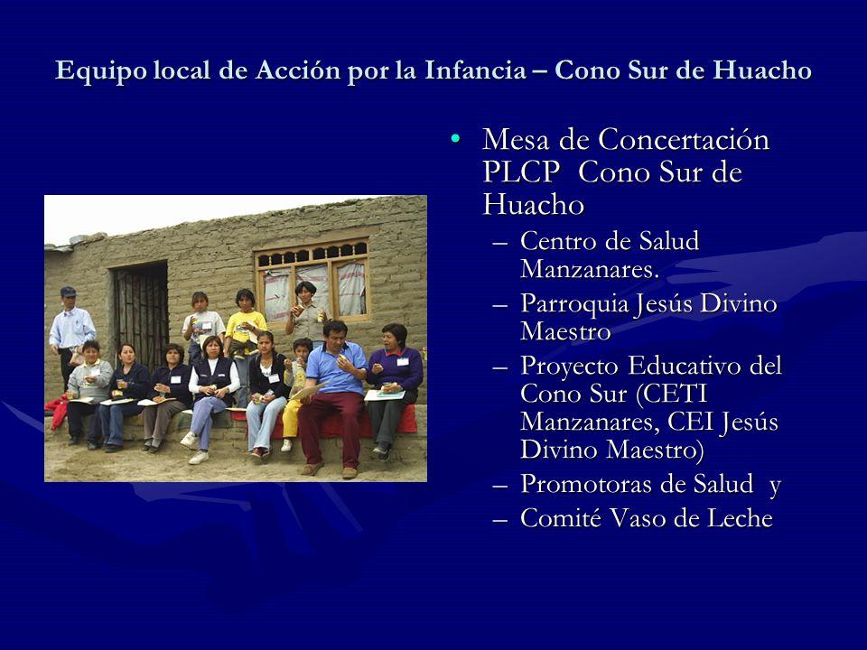 Equipo local de Acción por la Infancia – Cono Sur de Huacho