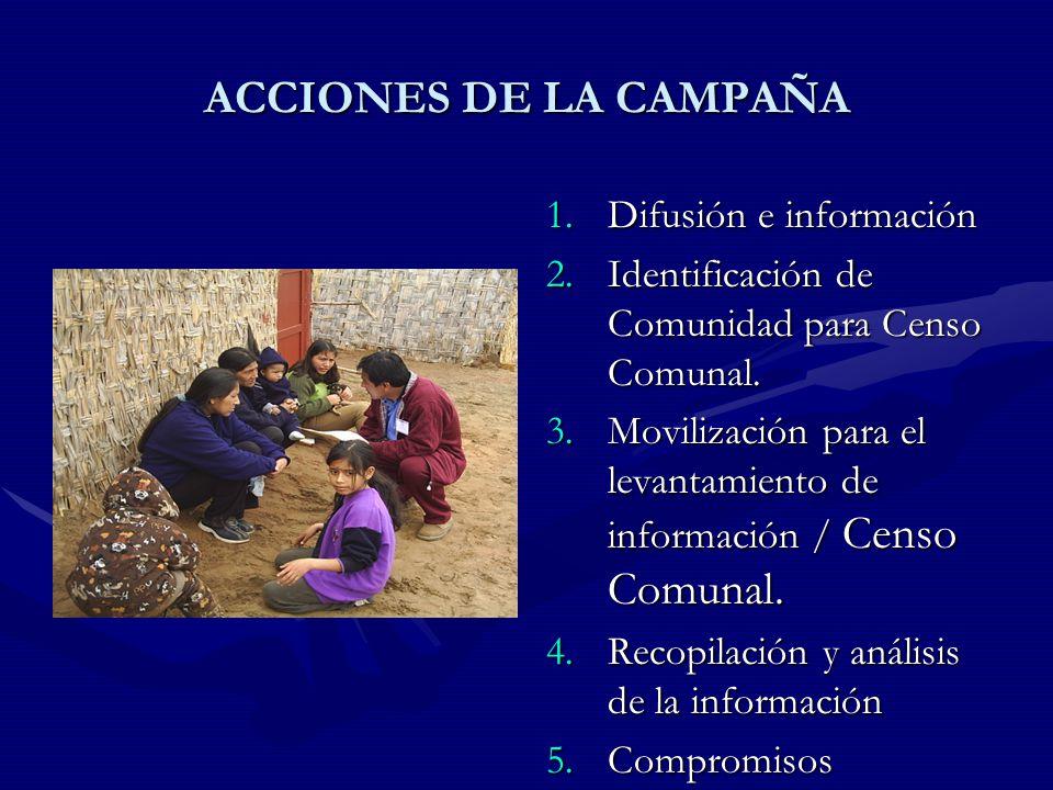 ACCIONES DE LA CAMPAÑA Difusión e información