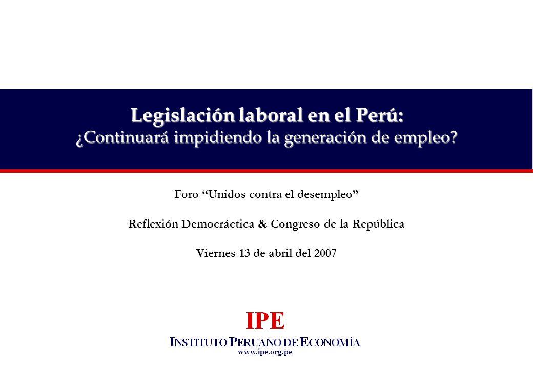 Legislación laboral en el Perú: