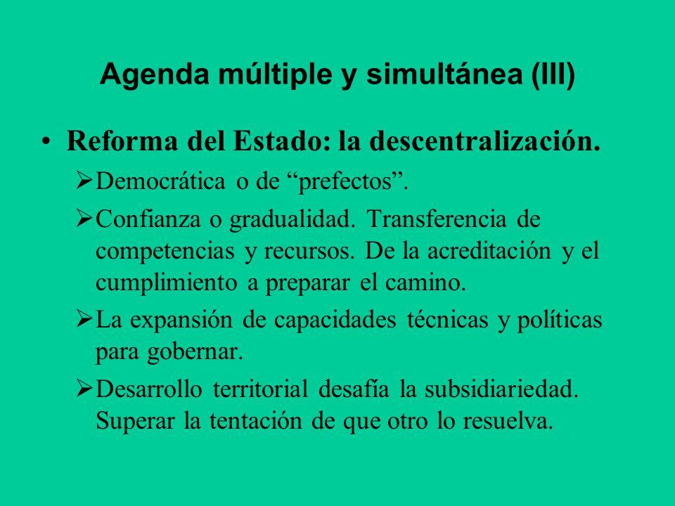 Agenda múltiple y simultánea (III)