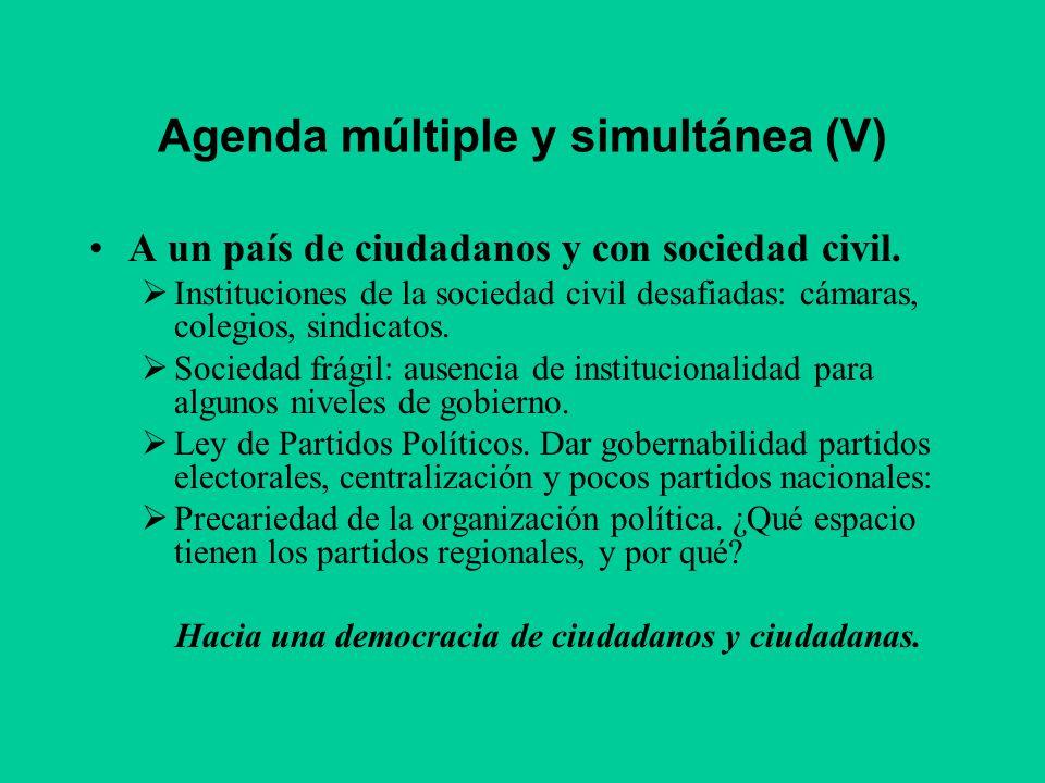 Agenda múltiple y simultánea (V)