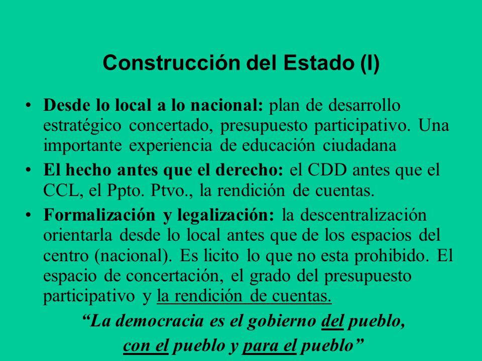 Construcción del Estado (I)