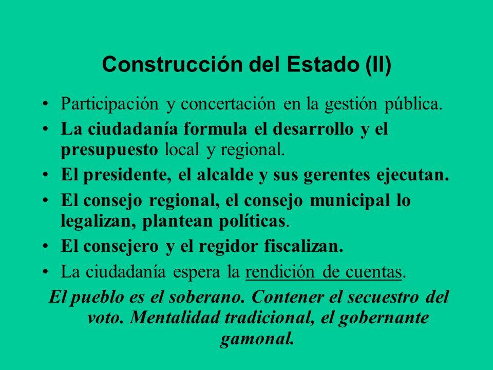 Construcción del Estado (II)