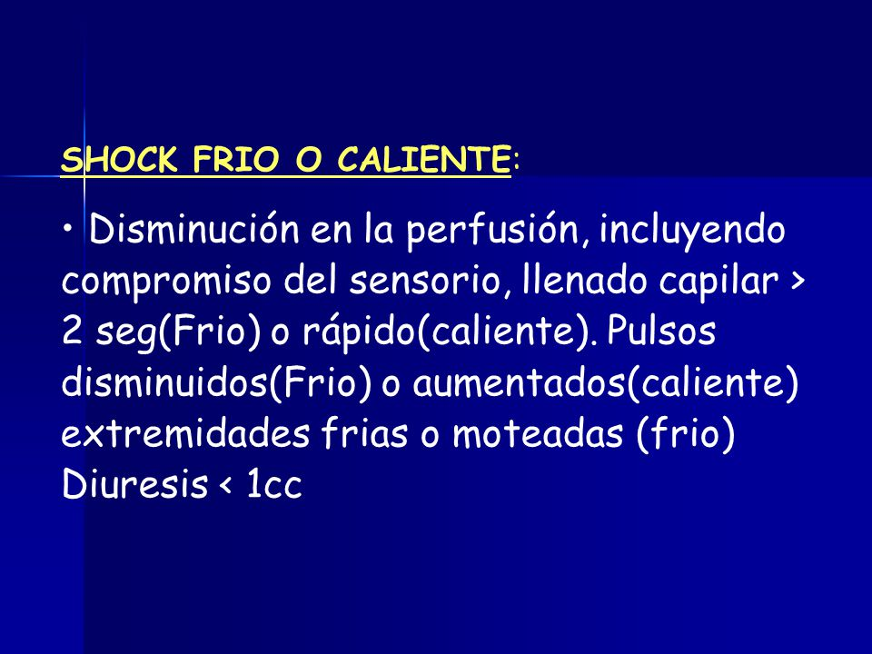 SHOCK FRIO O CALIENTE: