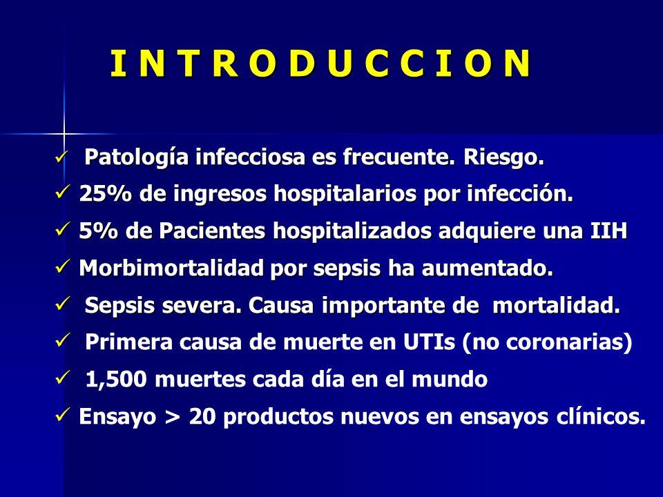I N T R O D U C C I O N 25% de ingresos hospitalarios por infección.