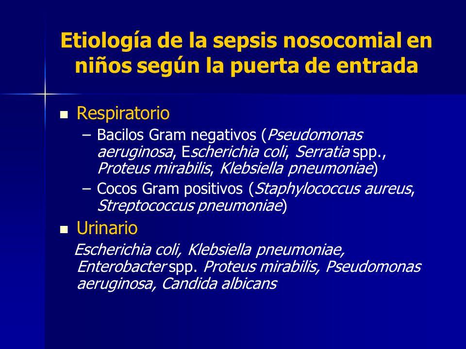 Etiología de la sepsis nosocomial en niños según la puerta de entrada