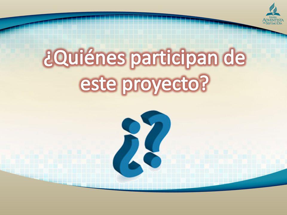 ¿Quiénes participan de este proyecto