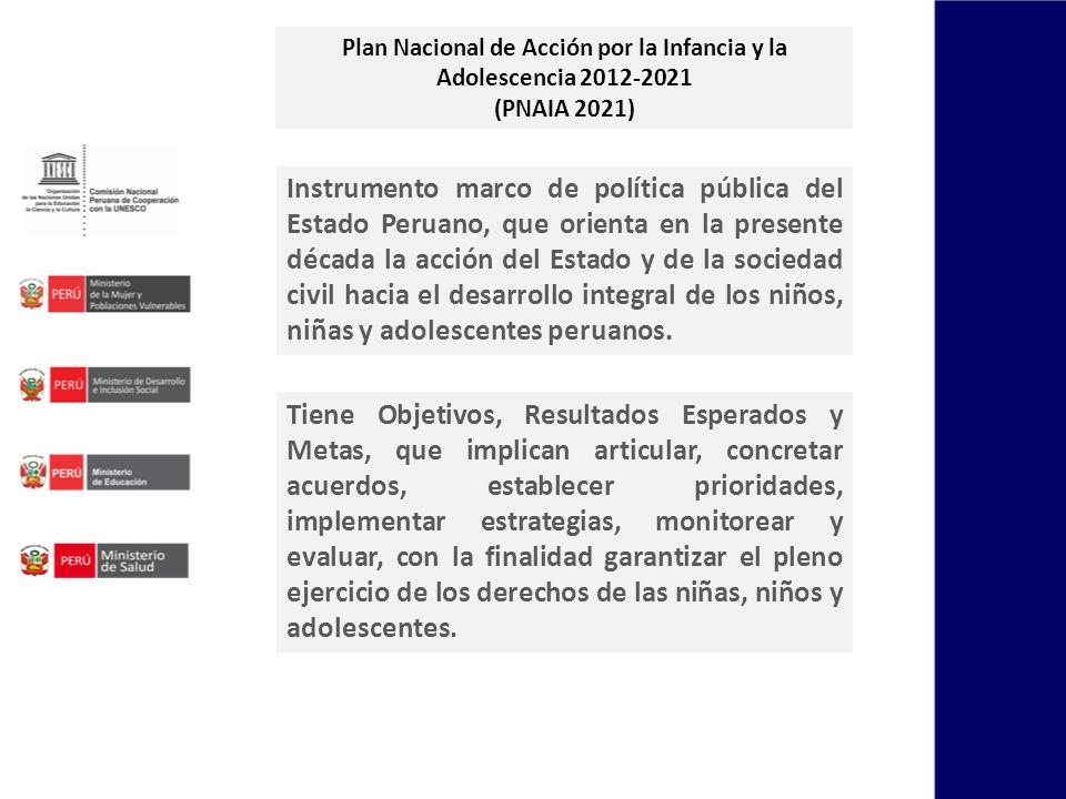 Plan Nacional de Acción por la Infancia y la Adolescencia 2012-2021