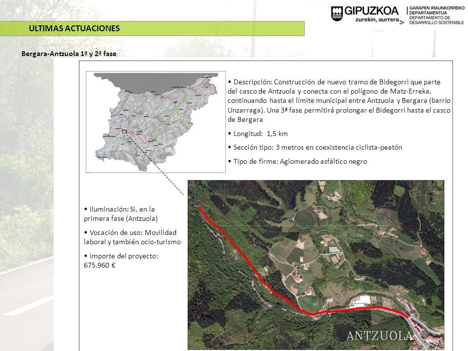 ULTIMAS ACTUACIONES Bergara-Antzuola 1ª y 2ª fase
