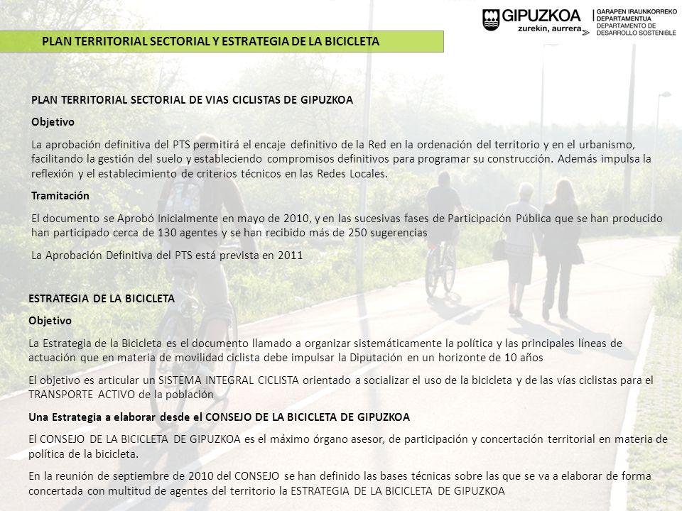 PLAN TERRITORIAL SECTORIAL Y ESTRATEGIA DE LA BICICLETA