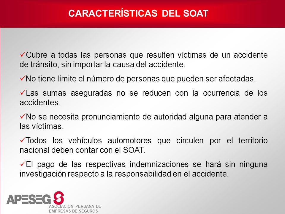 CARACTERÍSTICAS DEL SOAT