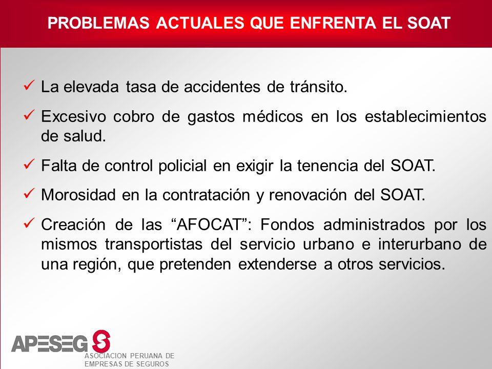 PROBLEMAS ACTUALES QUE ENFRENTA EL SOAT