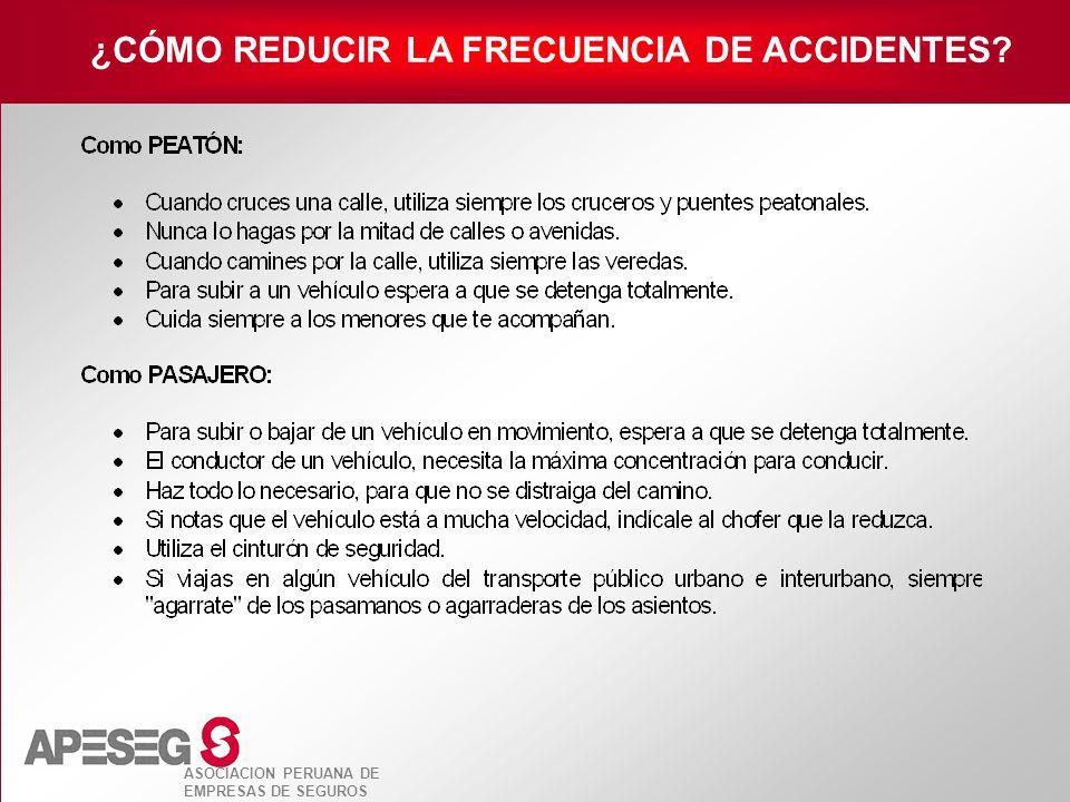 ¿CÓMO REDUCIR LA FRECUENCIA DE ACCIDENTES