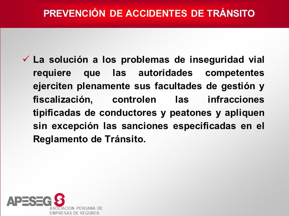 PREVENCIÓN DE ACCIDENTES DE TRÁNSITO