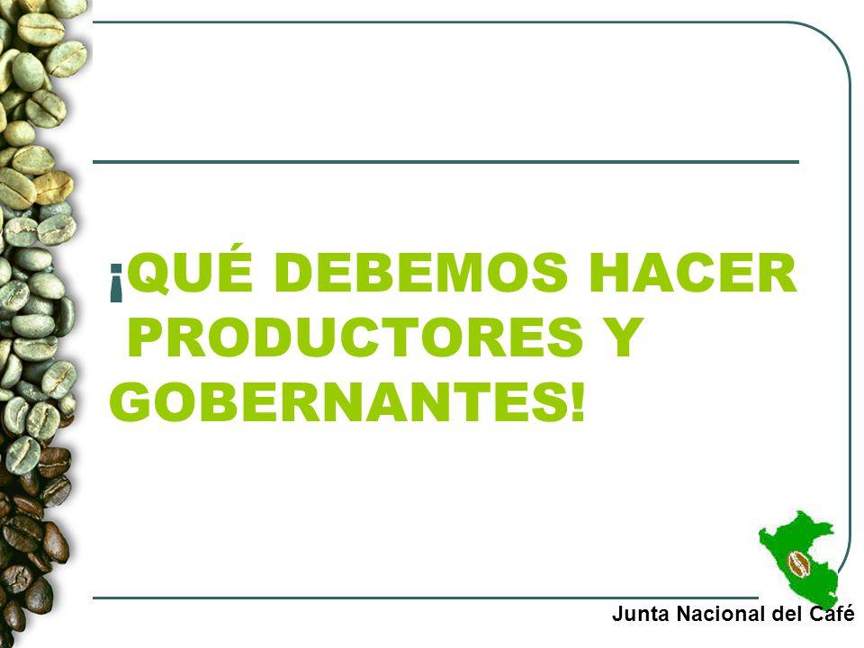 ¡QUÉ DEBEMOS HACER PRODUCTORES Y GOBERNANTES!