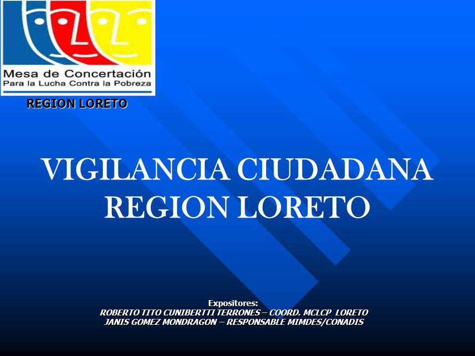 VIGILANCIA CIUDADANA REGION LORETO