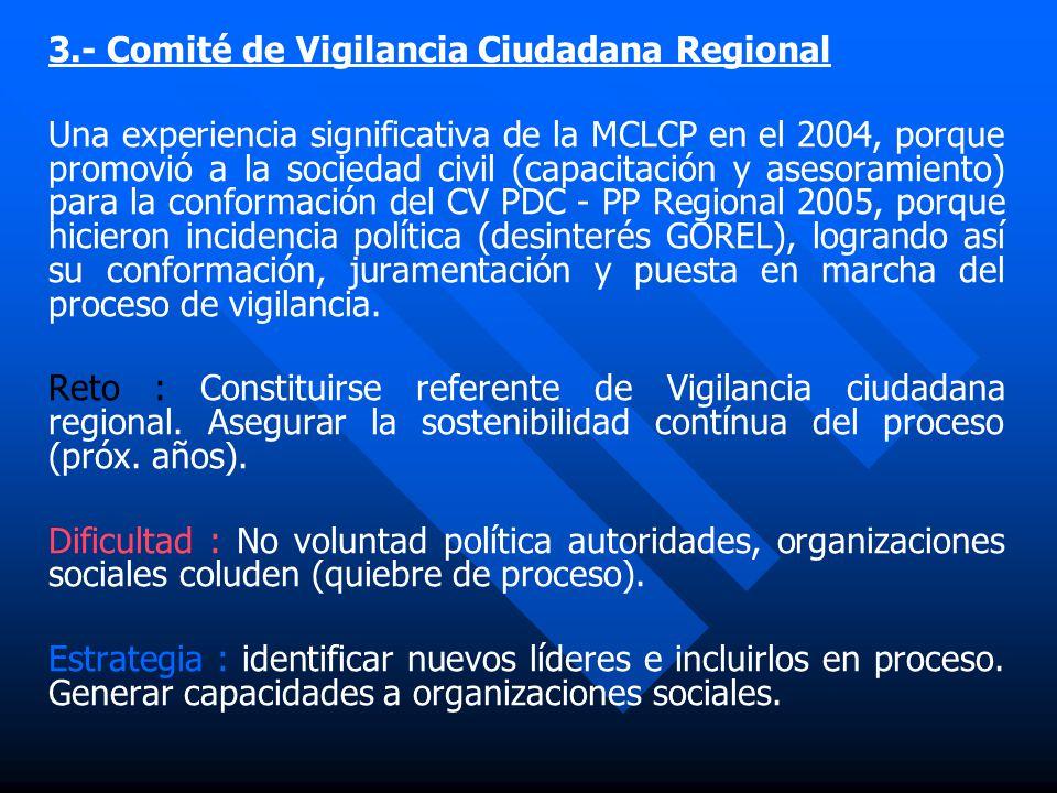 3.- Comité de Vigilancia Ciudadana Regional