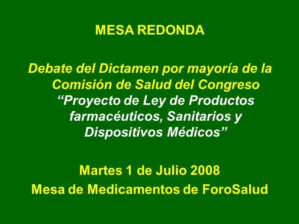 Mesa de Medicamentos de ForoSalud