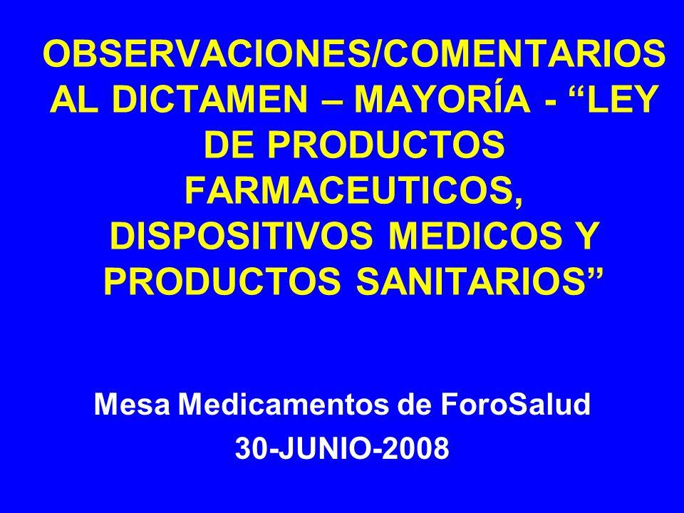 Mesa Medicamentos de ForoSalud 30-JUNIO-2008