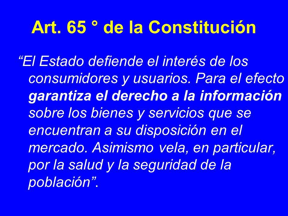 Art. 65 ° de la Constitución