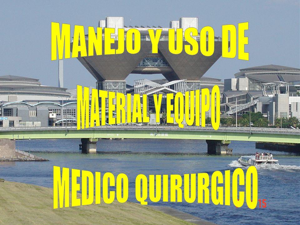 MANEJO Y USO DE MATERIAL Y EQUIPO MEDICO QUIRURGICO