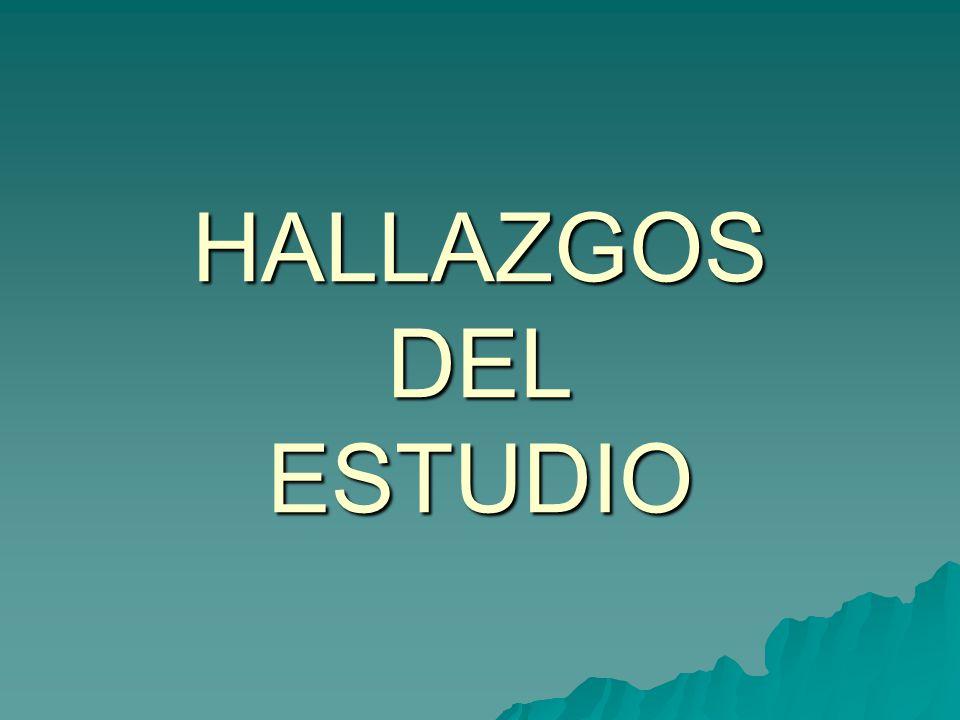 HALLAZGOS DEL ESTUDIO