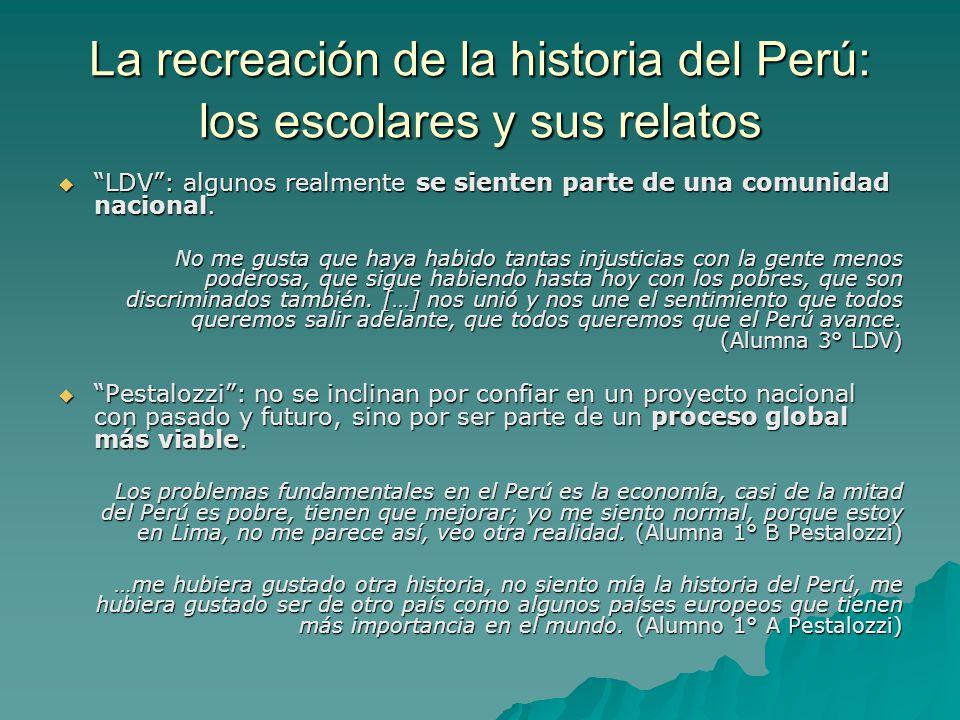 La recreación de la historia del Perú: los escolares y sus relatos