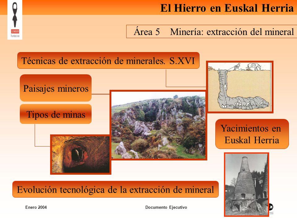 Área 5 Minería: extracción del mineral