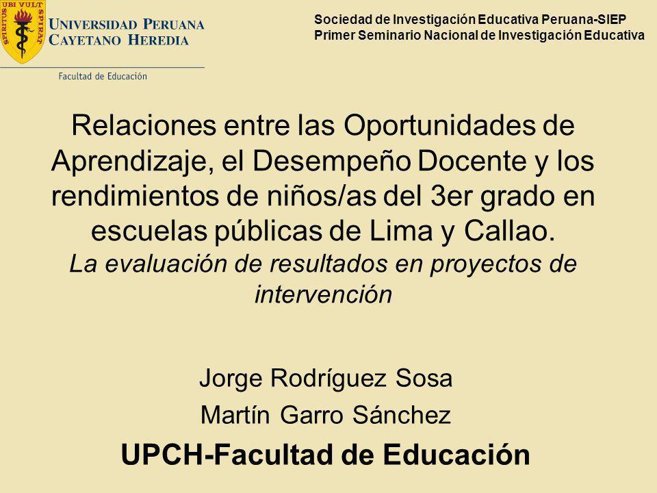 UPCH-Facultad de Educación