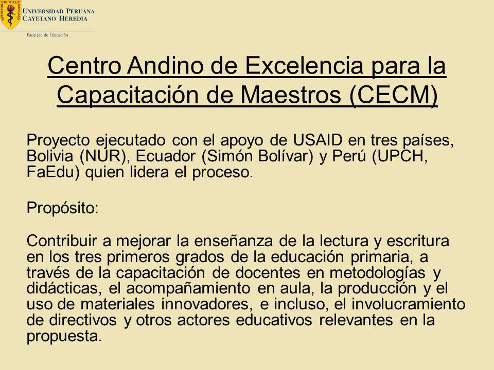 Centro Andino de Excelencia para la Capacitación de Maestros (CECM)