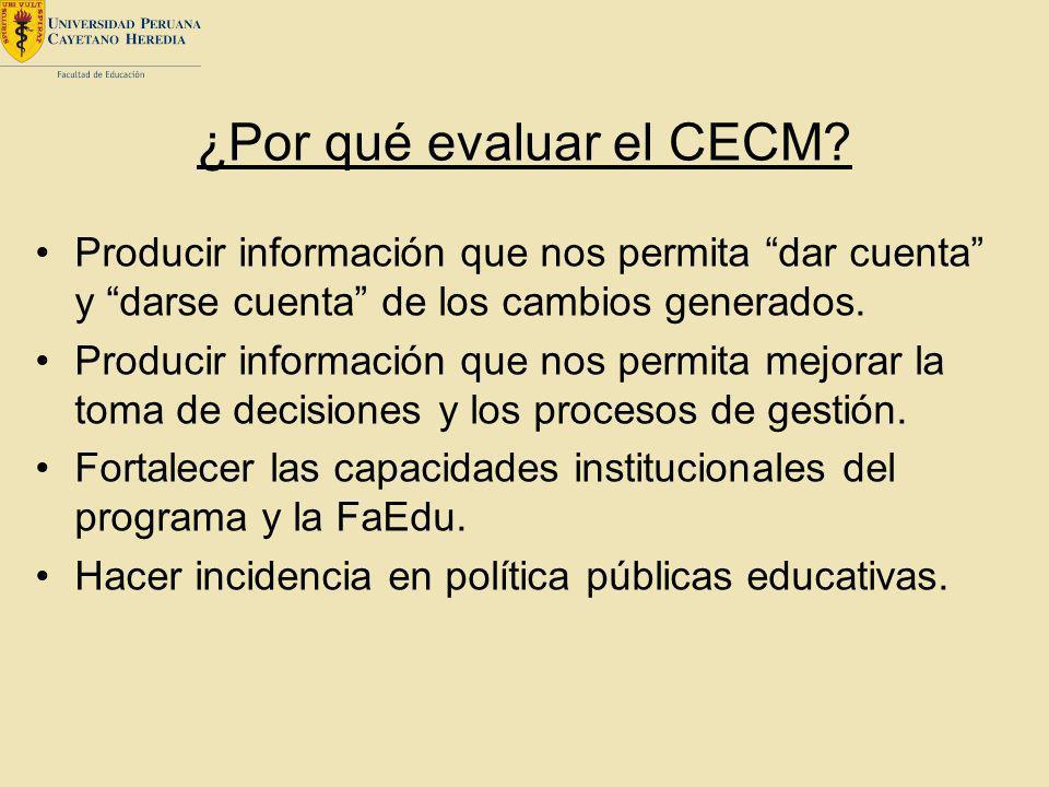 ¿Por qué evaluar el CECM