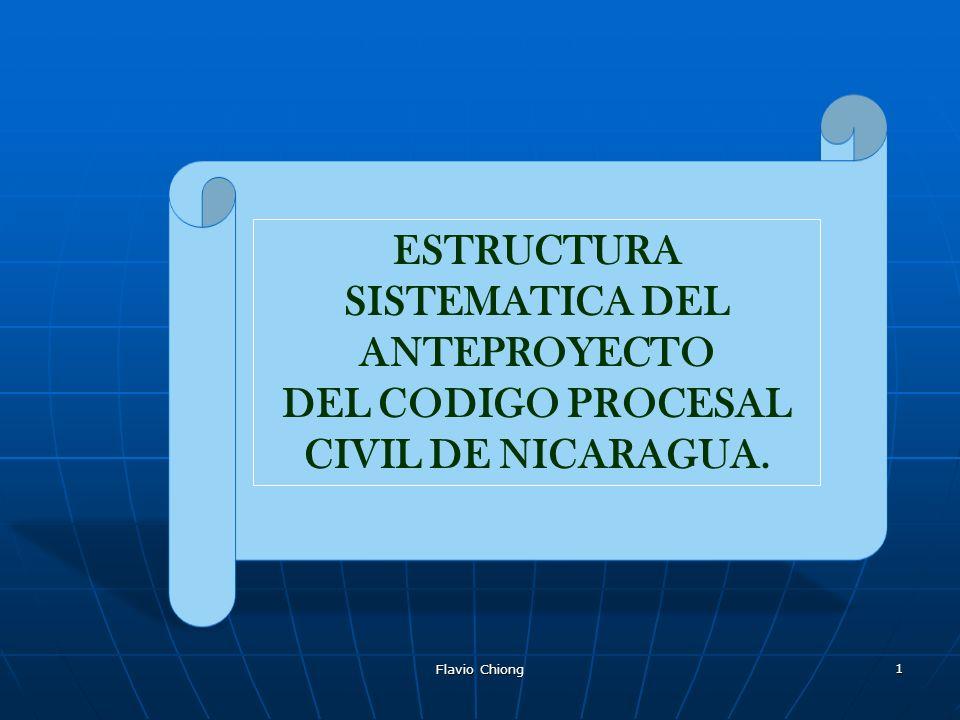 ESTRUCTURA SISTEMATICA DEL ANTEPROYECTO