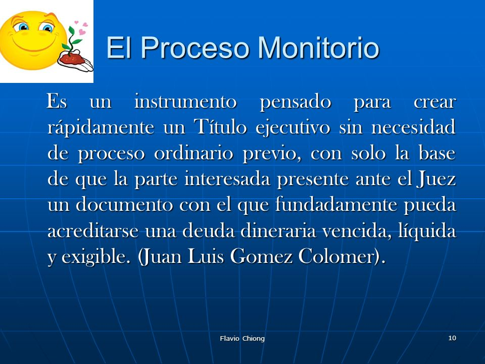 El Proceso Monitorio