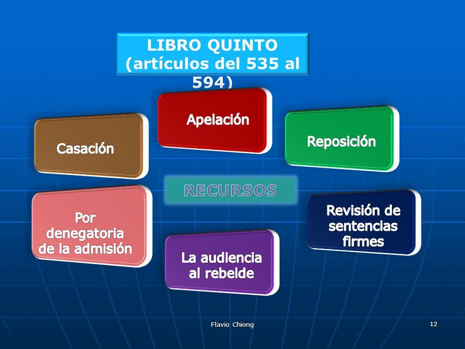 LIBRO QUINTO (artículos del 535 al 594)