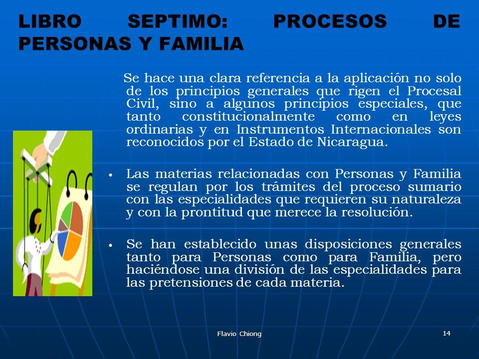 LIBRO SEPTIMO: PROCESOS DE PERSONAS Y FAMILIA