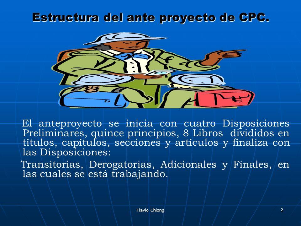 Estructura del ante proyecto de CPC.