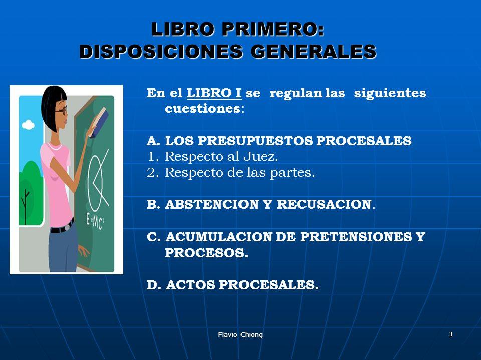 LIBRO PRIMERO: DISPOSICIONES GENERALES