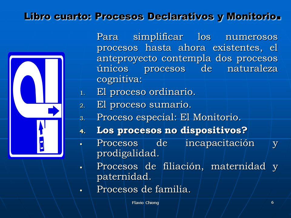 Libro cuarto: Procesos Declarativos y Monitorio.