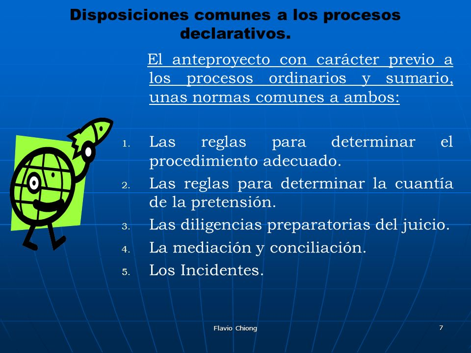 Disposiciones comunes a los procesos declarativos.