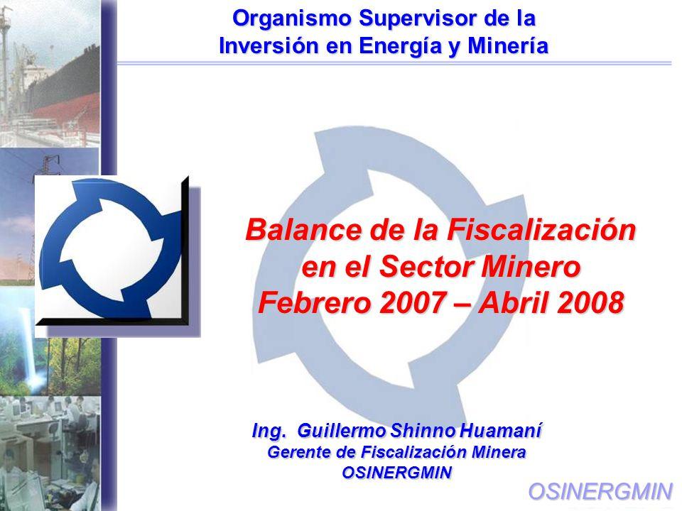 Balance de la Fiscalización en el Sector Minero