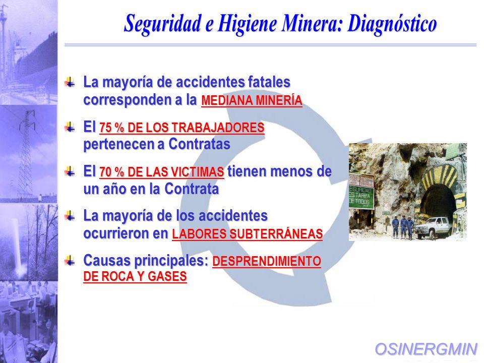 Seguridad e Higiene Minera: Diagnóstico
